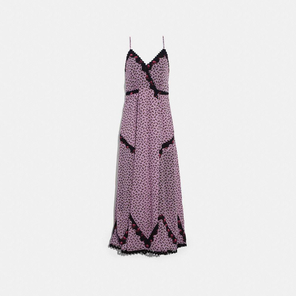Coach Floral Bud Print Slip Dress