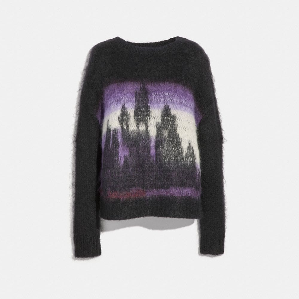 Coach Tie Dye Oversized Crew Neck Sweater