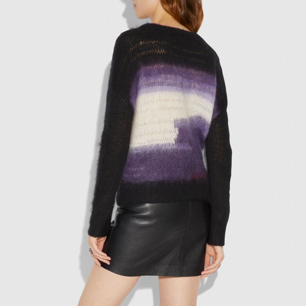 Coach Tie Dye Oversized Crew Neck Sweater Alternate View 2