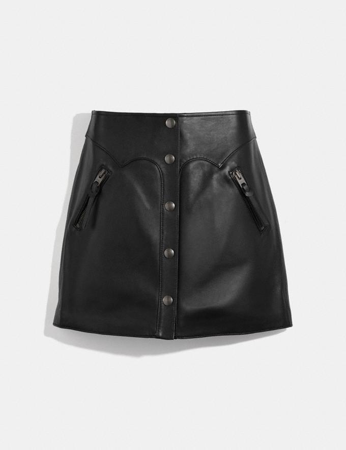 Coach Leather Skirt Black Women Ready-to-Wear Bottoms
