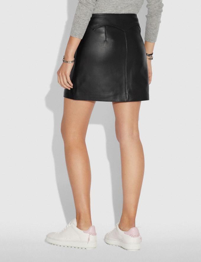Coach Leather Skirt Black  Alternate View 2