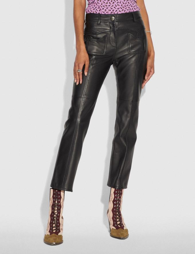 Coach Leather Pants Black Women Ready-to-Wear Bottoms Alternate View 1