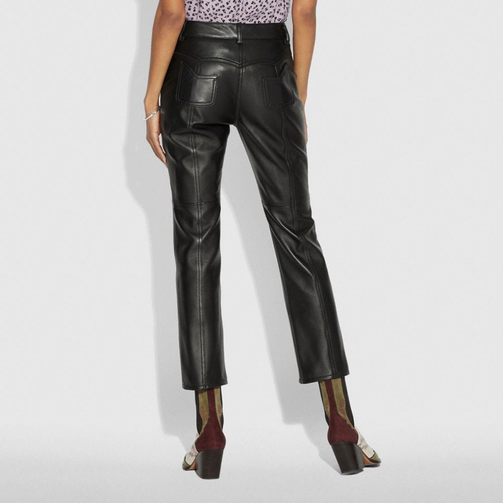 Coach Leather Pants Alternate View 2