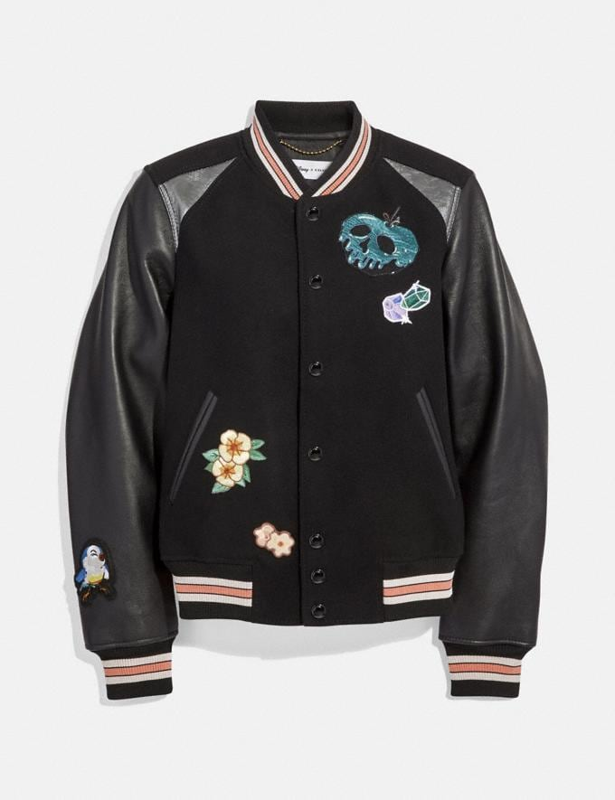 Coach Disney X Coach Varsity Jacket Black New Featured Disney x Coach