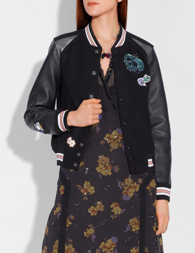 Coach Disney X Coach Varsity Jacket Black Women Ready-to-Wear Coats & Jackets Alternate View 1