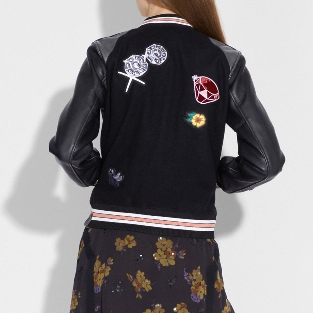 Coach Disney X Coach Varsity Jacket Alternate View 2