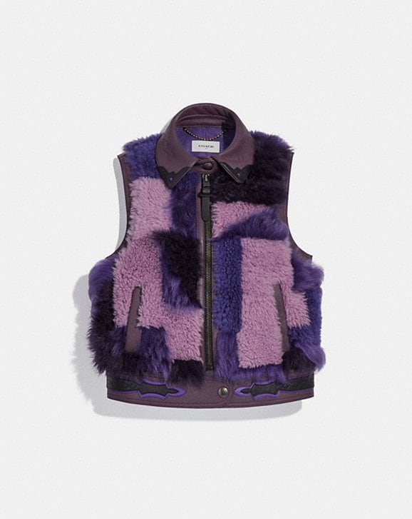 Coach PATCHWORK SHEARLING VEST