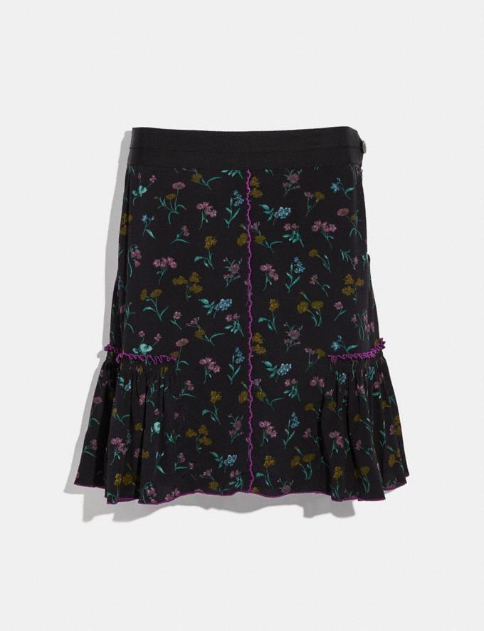 Coach Printed Skirt Black Women Ready-to-Wear Bottoms