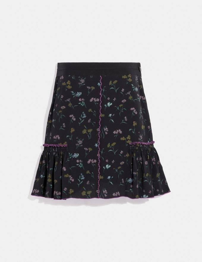Coach Printed Skirt Orchid