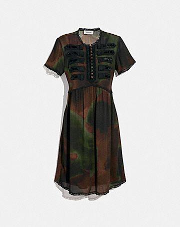 TIE DYE PRINT MILITARY DRESS