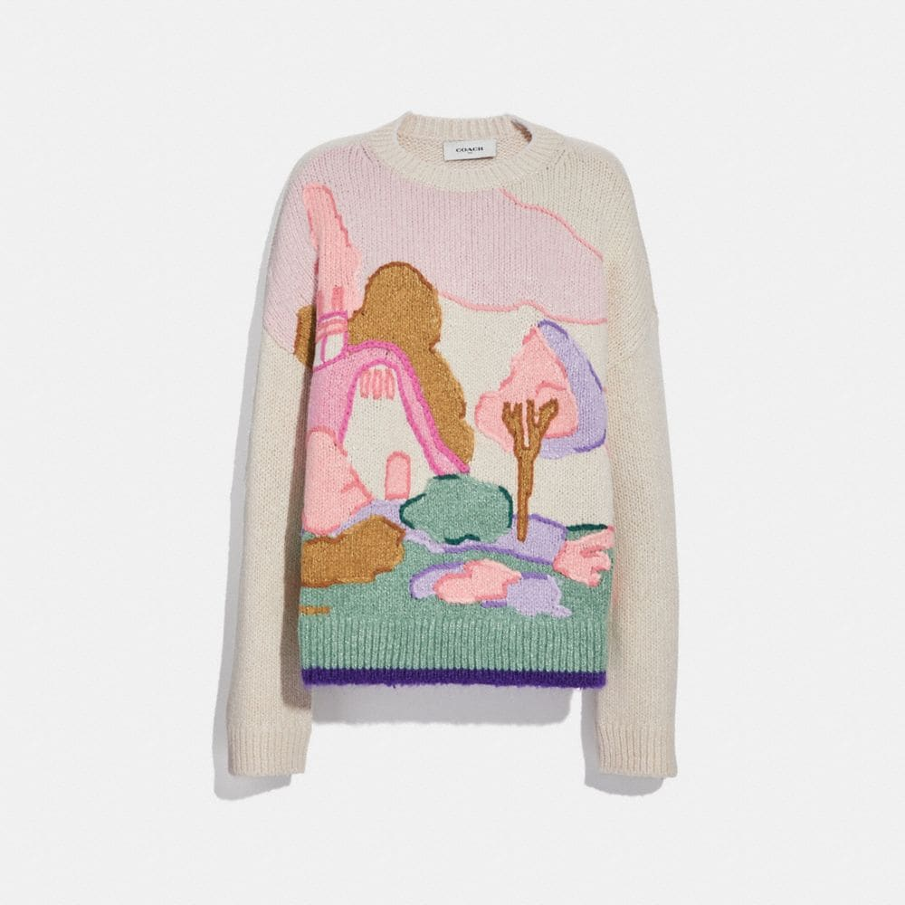 Coach Spooky Cottage Oversized Sweater