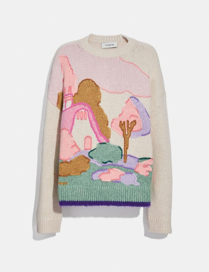 Coach Spooky Cottage Oversized Sweater Cloud