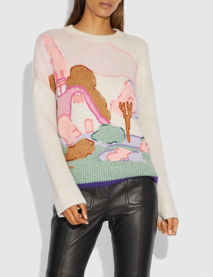 Coach Spooky Cottage Oversized Sweater Cloud  Alternate View 1