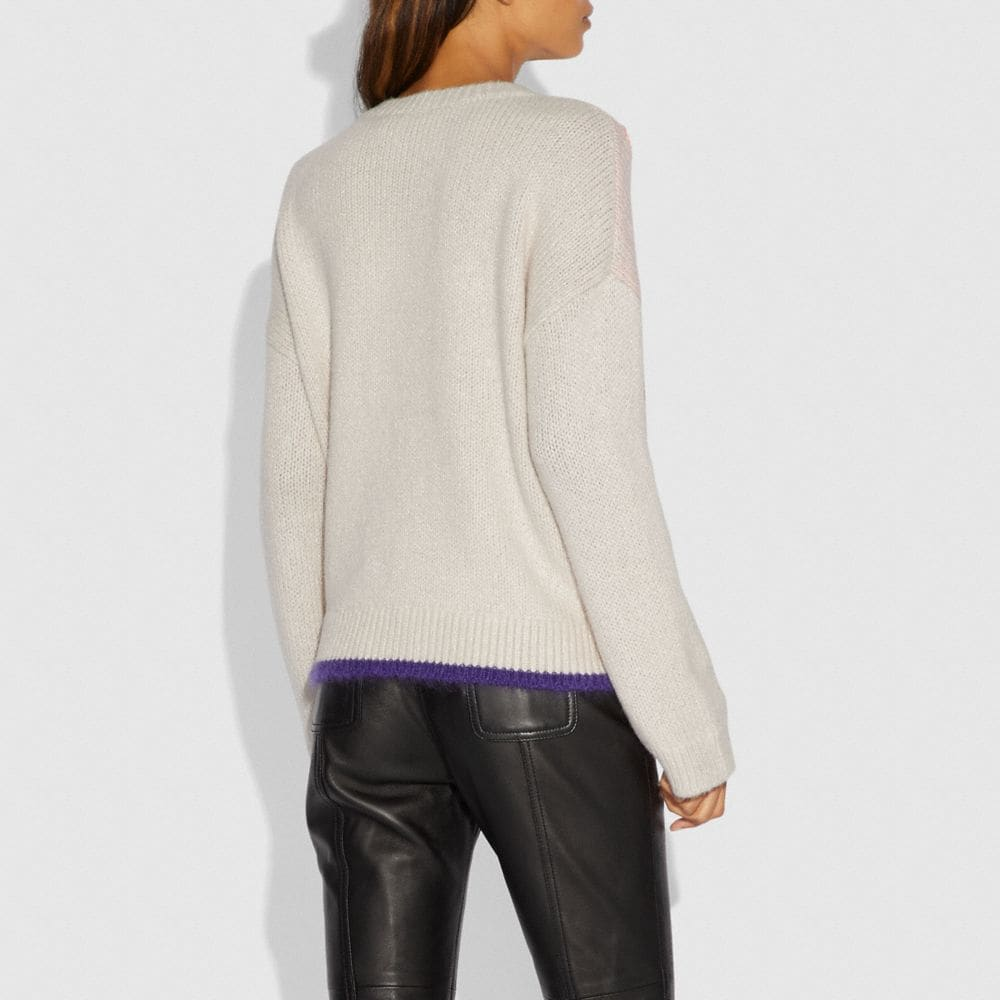 Coach Spooky Cottage Oversized Sweater Alternate View 2