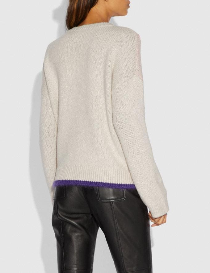 Coach Spooky Cottage Oversized Sweater Cloud  Alternate View 2