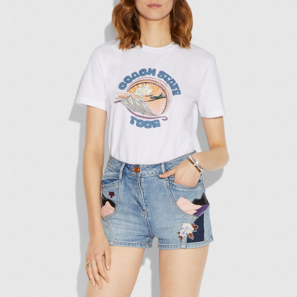 Coach Embellished Coach State Tour T-Shirt Alternate View 1