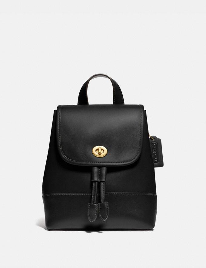 Coach Turnlock Backpack Brass/Black New Featured The Coach Originals