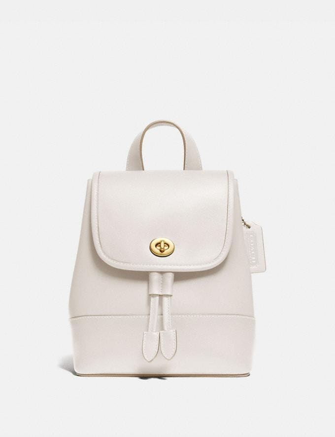 Coach Turnlock Backpack Brass/Chalk New Featured The Coach Originals