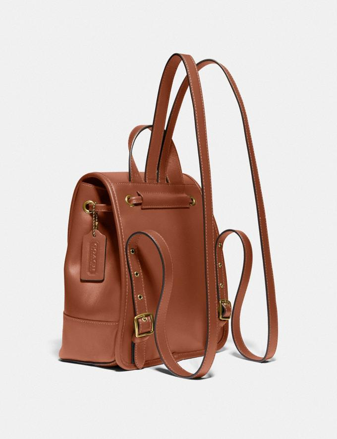 Coach Turnlock Backpack Brass/1941 Saddle New Featured The Coach Originals Alternate View 1