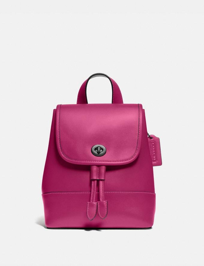 Coach Turnlock Backpack Pewter/Cerise