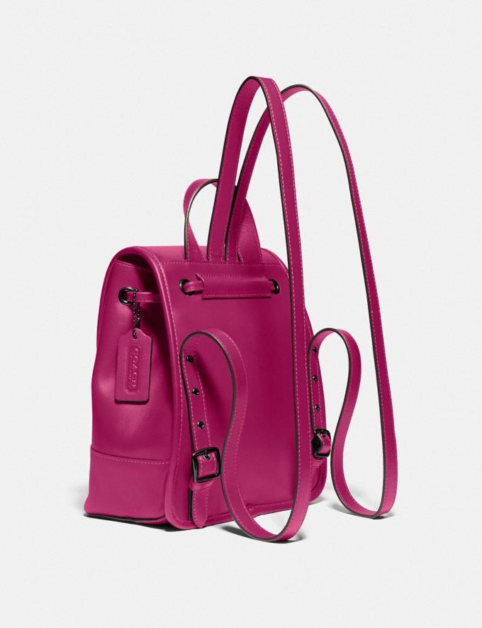Coach Turnlock Backpack Pewter/Cerise  Alternate View 1