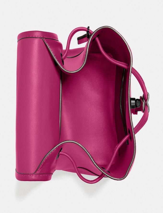 Coach Turnlock Backpack Pewter/Cerise New Featured The Coach Originals Alternate View 2