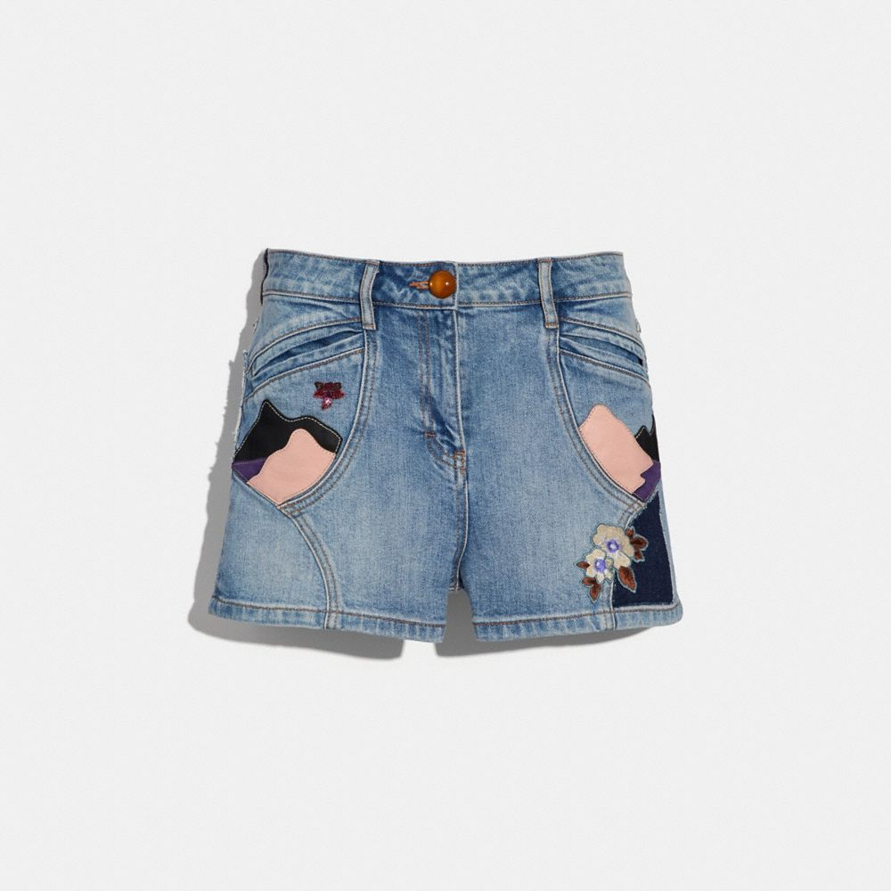 Coach Embellished Denim Short
