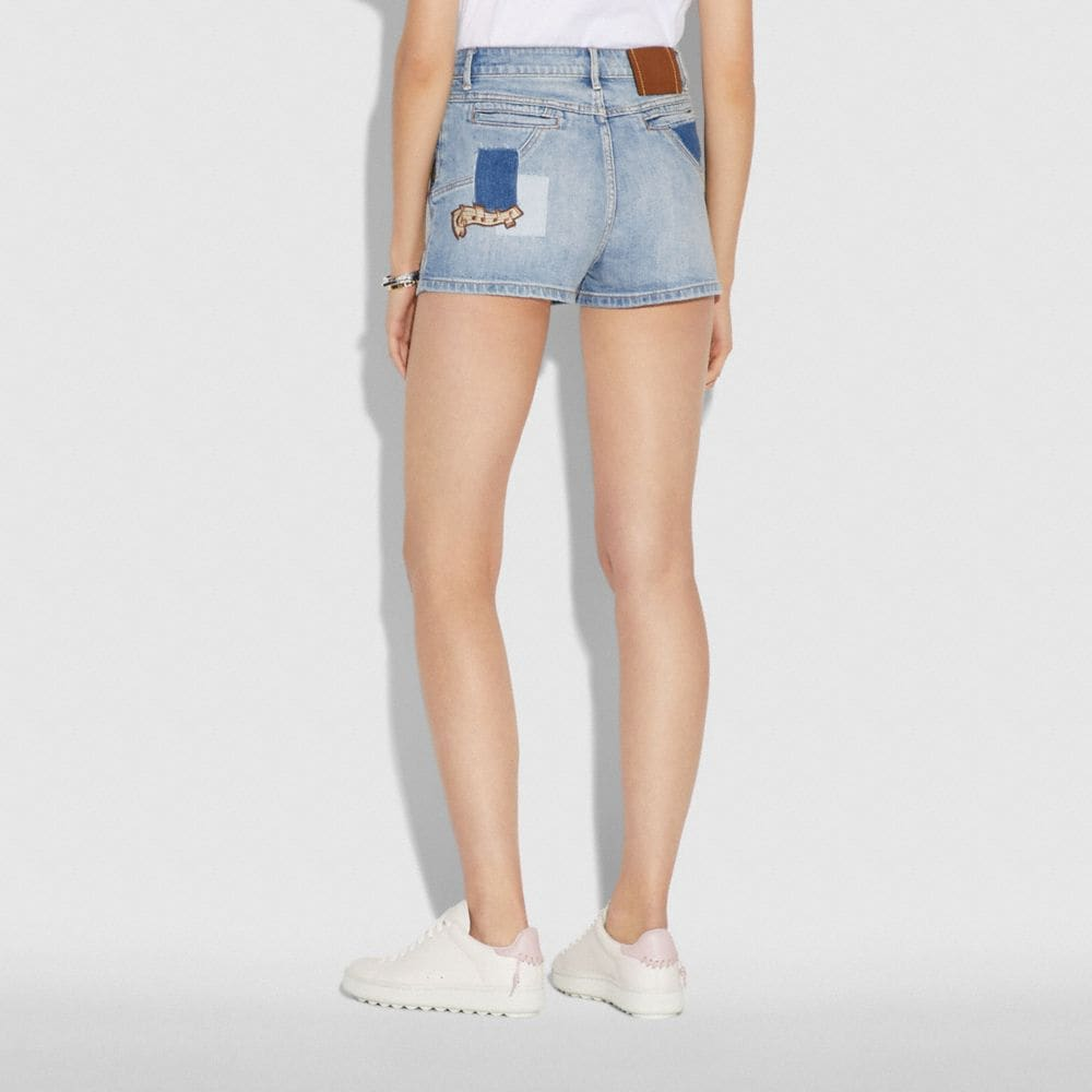 Coach Embellished Denim Short Alternate View 2