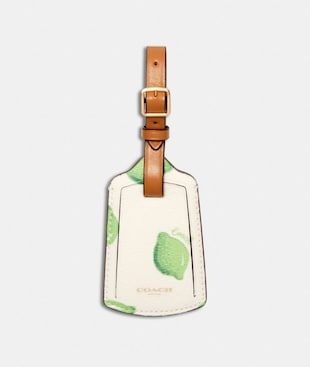 LUGGAGE TAG WITH LIME PRINT
