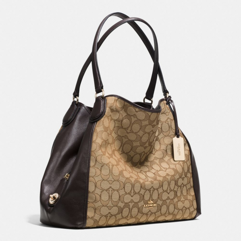 Edie Shoulder Bag in Signature Jacquard - Autres affichages A2