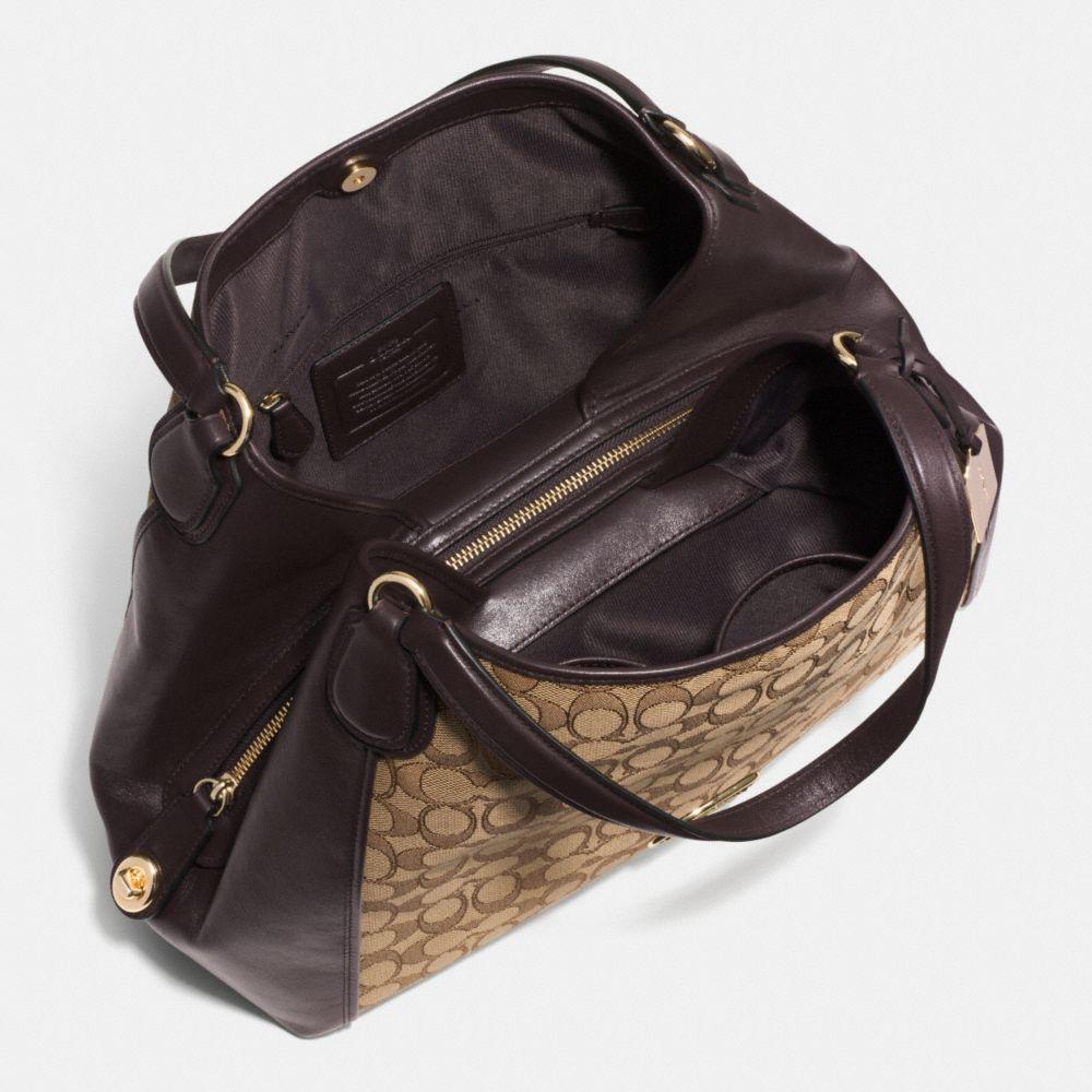 Edie Shoulder Bag in Signature Jacquard - Autres affichages A3
