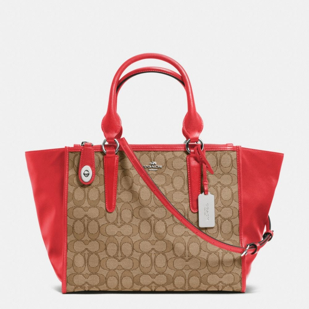 CROSBY CARRYALL IN SIGNATURE JACQUARD