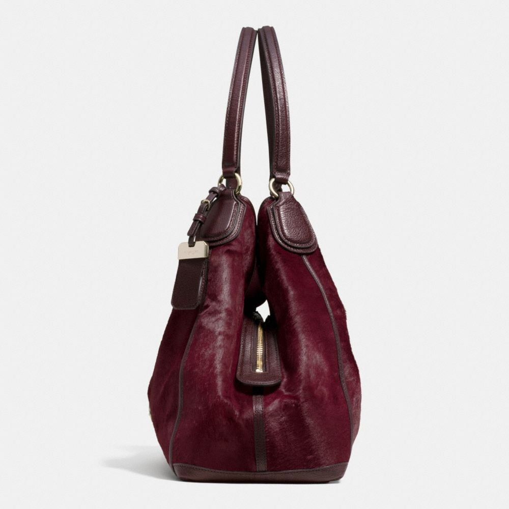 Large Edie Shoulder Bag in Haircalf - Alternate View A1