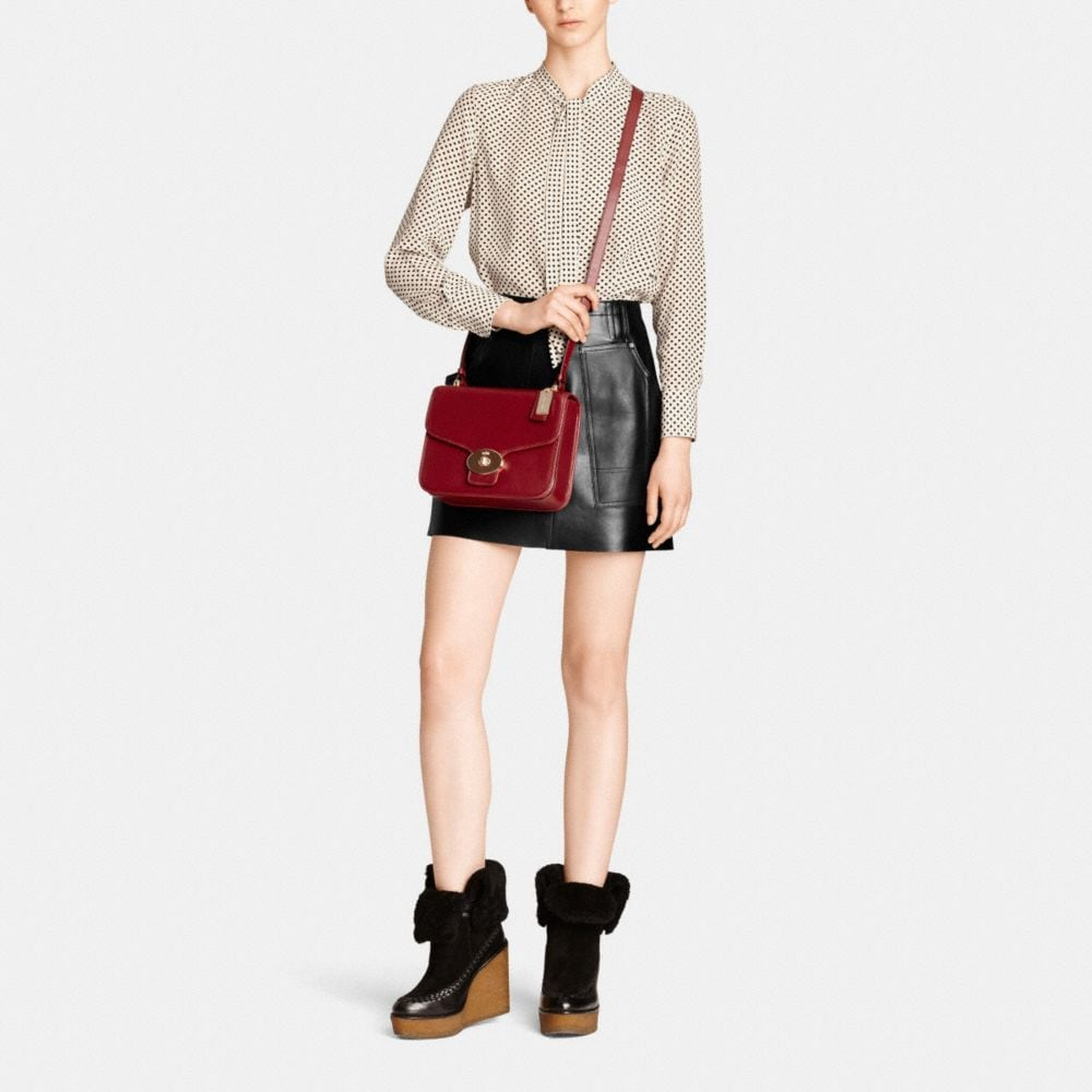 Page Shoulder Bag in Leather - Alternate View M