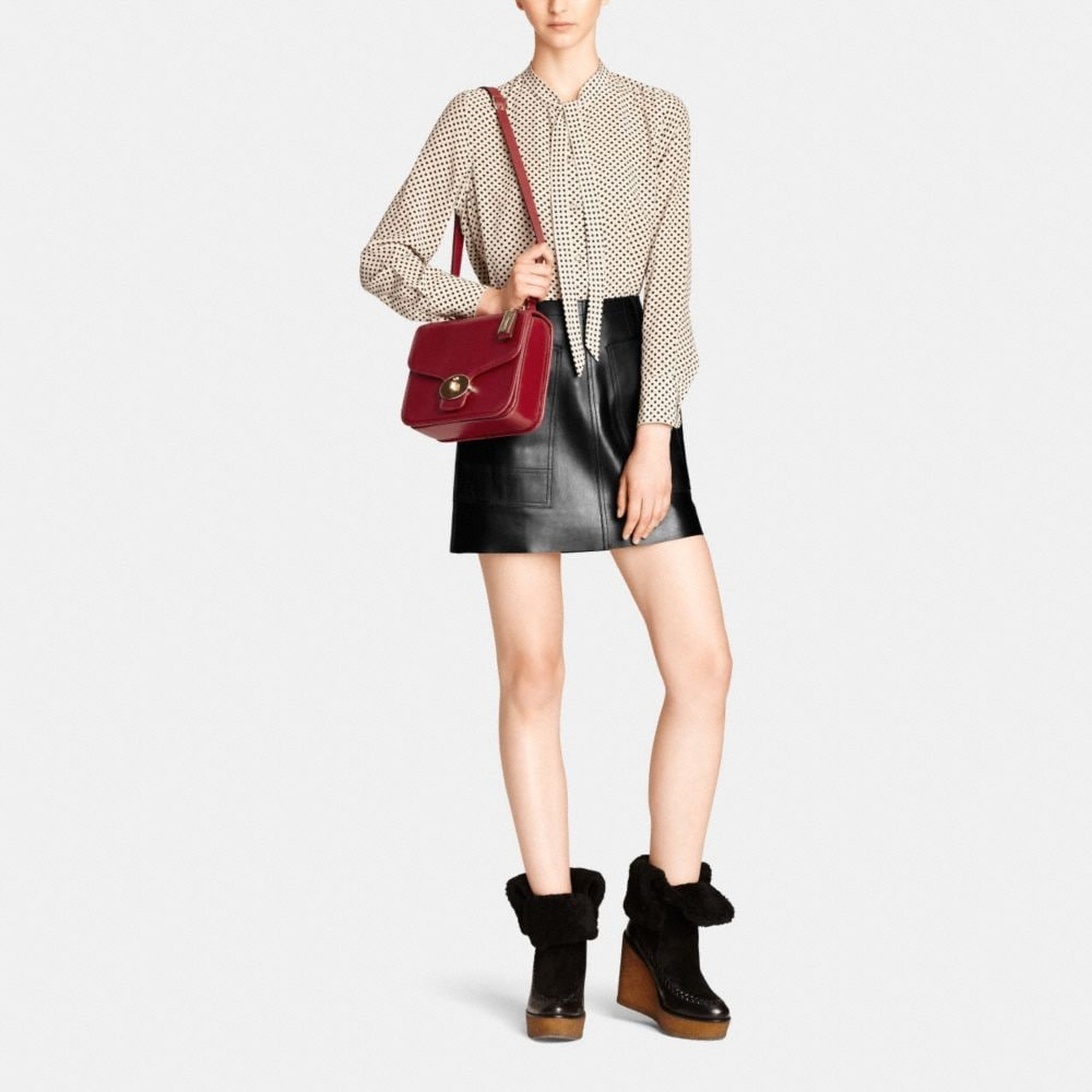 Page Shoulder Bag in Leather - Alternate View M2