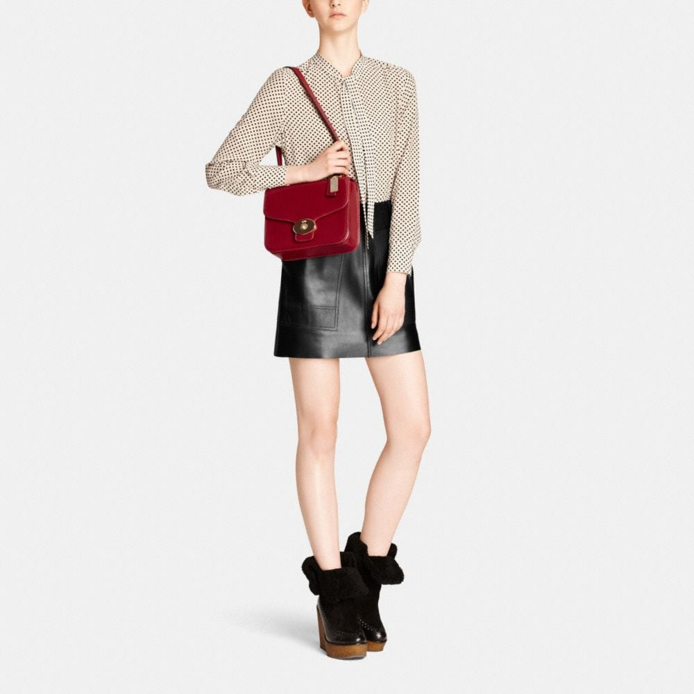 Page Shoulder Bag in Leather - Alternate View M3