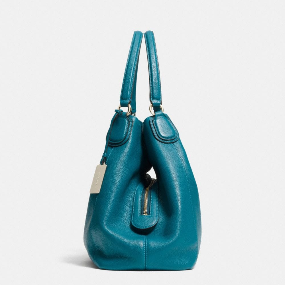 Edie Shoulder Bag in Polished Pebble Leather - Alternate View A1
