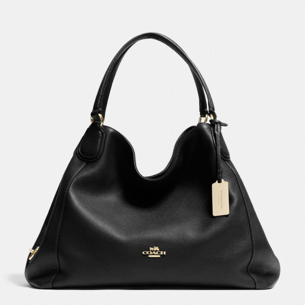 EDIE SHOULDER BAG IN PEBBLE LEATHER