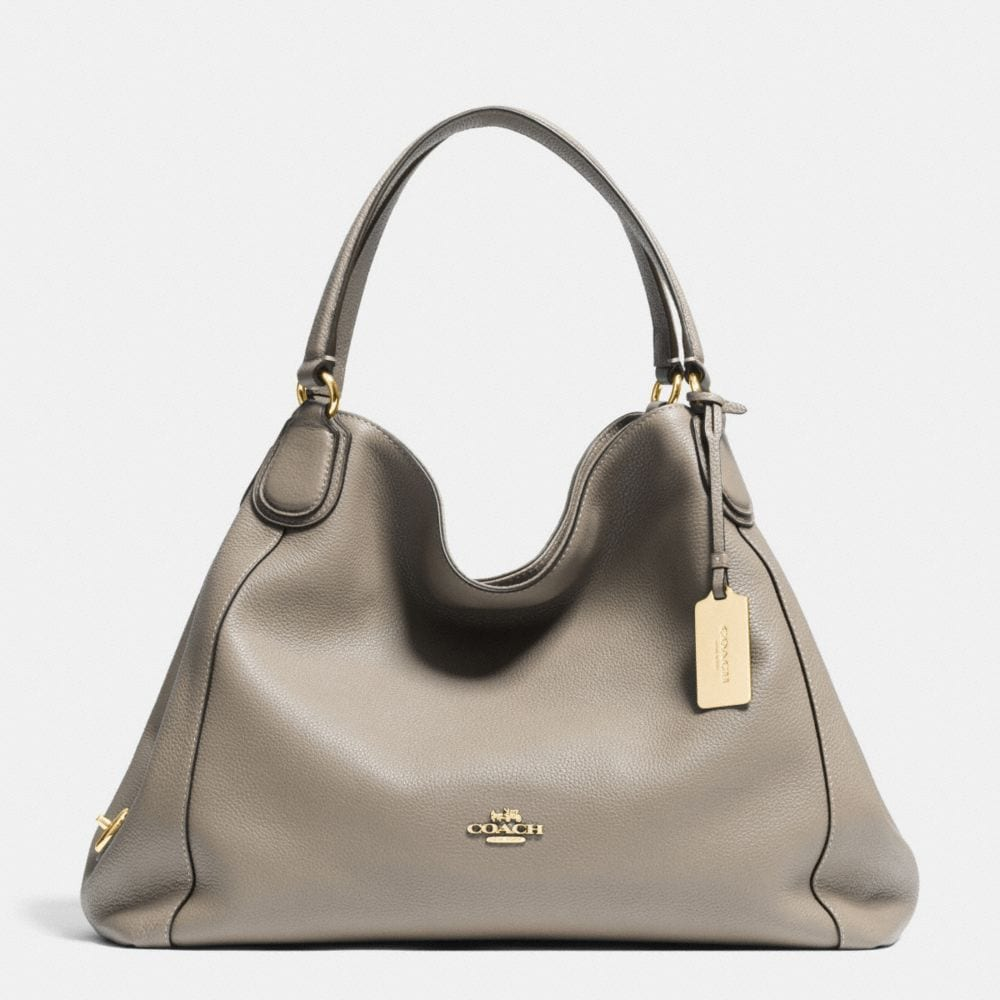 Edie Shoulder Bag in Polished Pebble Leather