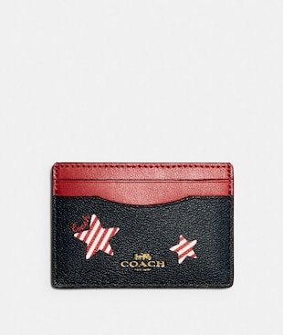 CARD CASE WITH AMERICANA STAR PRINT