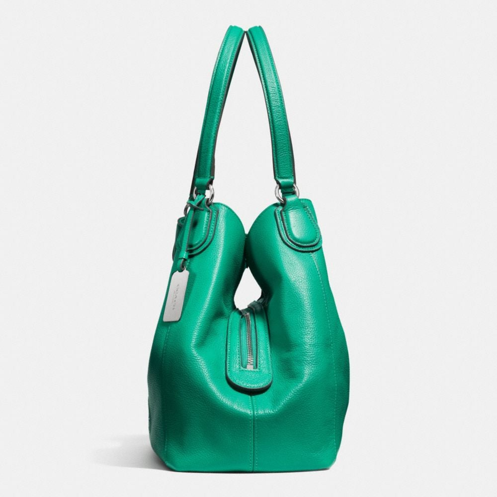Embossed Horse and Carriage Edie Shoulder Bag in Pebbled Leather - Autres affichages A1