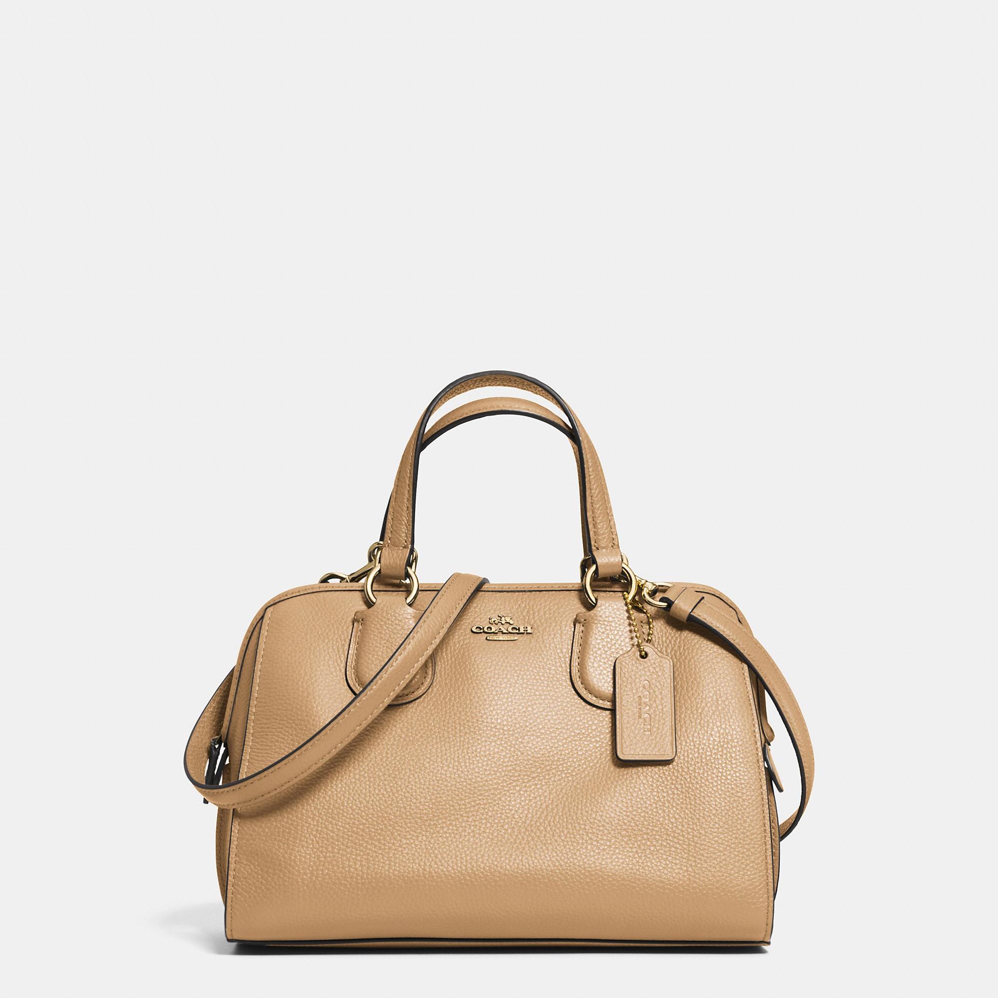 Coach Mini Nolita Satchel In Leather