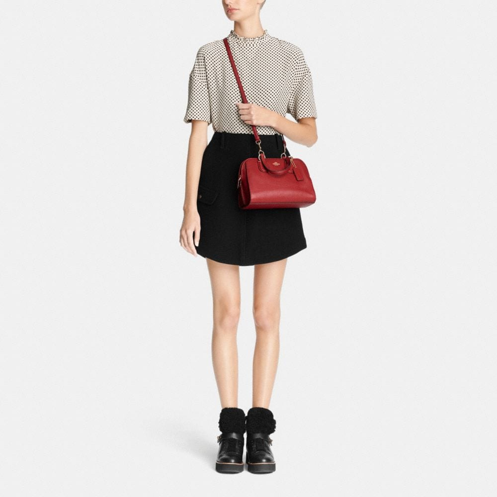 Mini Nolita Satchel in Polished Pebble Leather - Alternate View M1