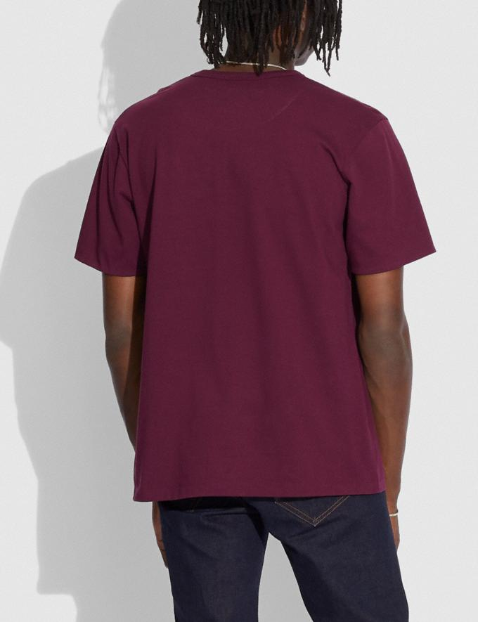 Coach Coach X Champion Men'S Embellished T-Shirt Burgundy.  Alternate View 2