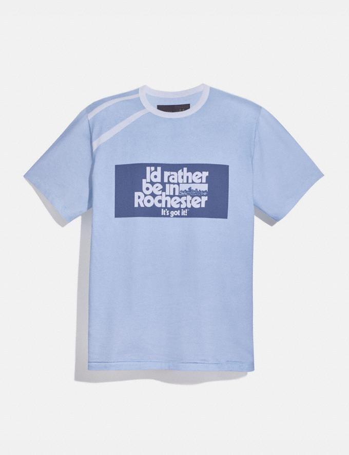 Coach T-Shirt Coach X Champion Bleu/Blanc