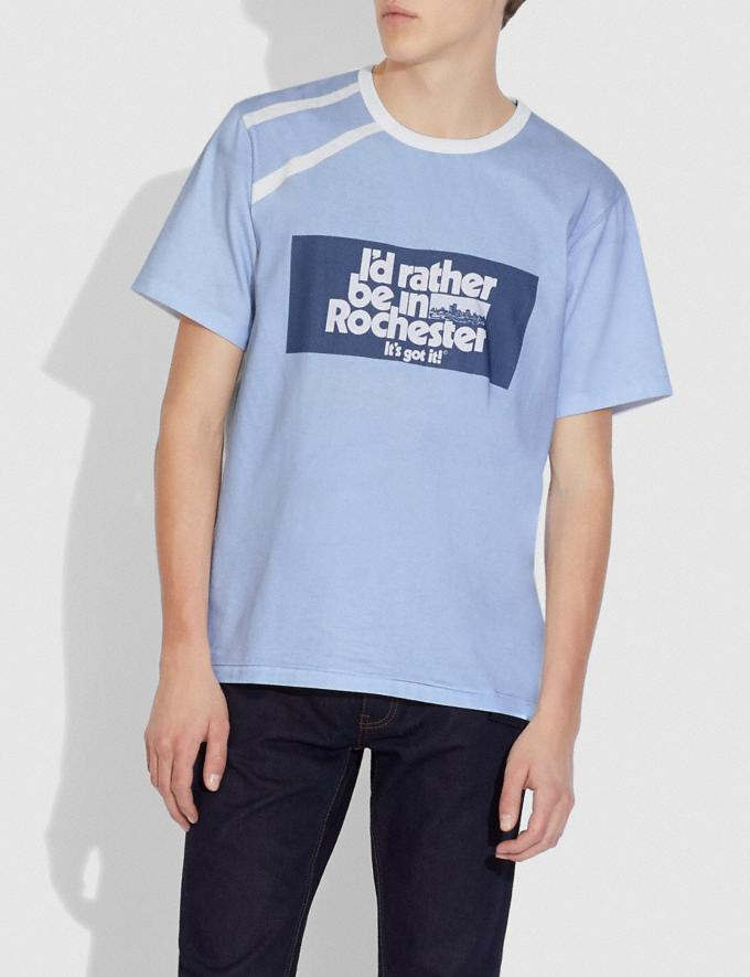 Coach Camiseta Coach X Champion Azul/Blanco  Vistas alternativas 1