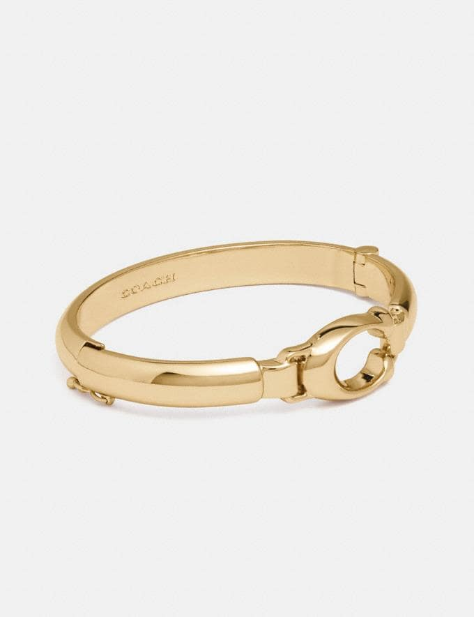 Coach Sculpted Signature Plaque Bangle Gold Gifts For Her Bestsellers