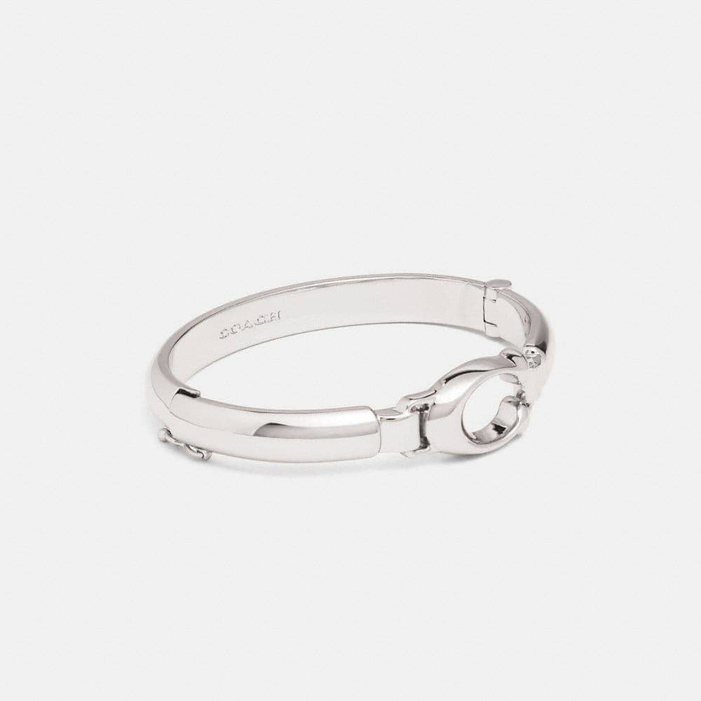 Coach Sculpted Signature Plaque Bangle