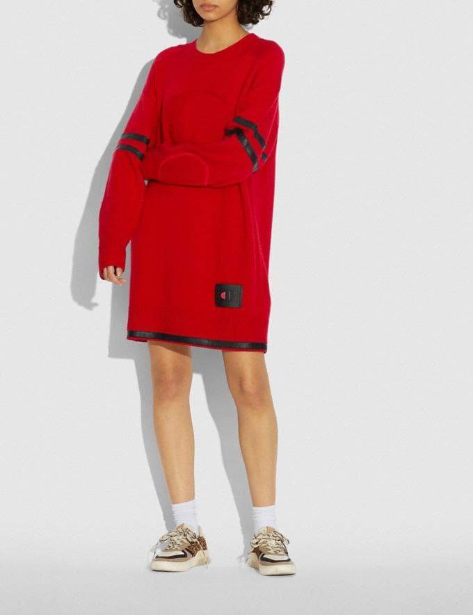 Coach Coach X Champion Sweater Dress Red  Alternate View 1