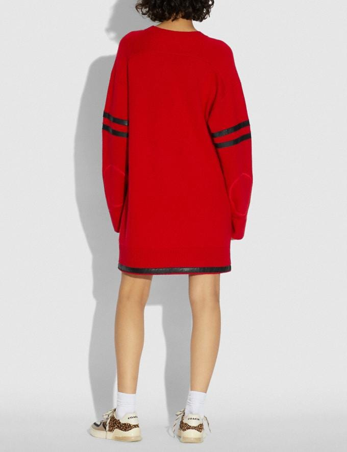 Coach Coach X Champion Sweater Dress Red  Alternate View 2